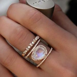 ❤️gorgeous ancient natural stone stackable ring